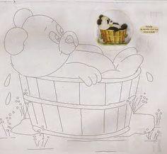 Silvia, pinturas e riscos.: Risco ursinho panda