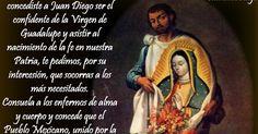 A SAN JUAN DIEGO     Oh mi santo consentido,  Mi santo de piel morena,  Juan Diego, con tu alma buena,  Dale a mi vida sentido,  Porque ...