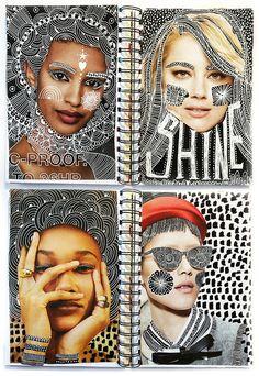 Art Journal Pages, Art Journal Challenge, Art Journal Prompts, Art Pages, Journal Ideas, Art Journals, Art Journal Covers, Art Journal Backgrounds, Visual Journals