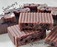 Juniper Berry and Applejack Handmade by SunscapesSoapsnSoaks on Etsy $5.55  Enjoy this spicy Applejack scent combined with the natural pine of the Juniper berries for a delightful experience.