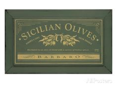 Sicilian Olives Posters by Angela Staehling at AllPosters.com