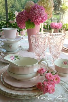 pink china for display