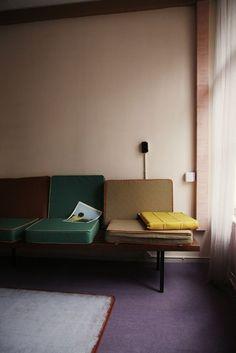 Interior color - Purple, Green, Pale Peach, Yellow