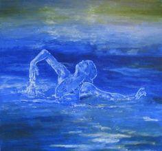 #Synkron#water#30x30 cm#acrylic on canvas#rithva