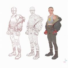 """1,762 Likes, 17 Comments - richard lyons (@richardlyonsconceptart) on Instagram: """"Working process for Thug Rose costume #videogames #characterdesign #costumedesign #costume #sketch…"""""""