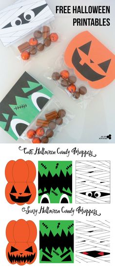 DIY Halloween Candy Wrappers with free PDF | The Tiny Honeycomb
