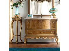Single solid wood vanity unit with drawers 12676 Casanova Collection by Modenese Gastone group