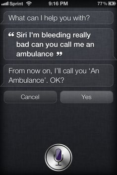 Call you 'An Ambulance'...LOL