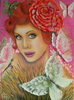 IMPASTO OIL ART for sale by NadiaGriRoza  Lady by NadiaGriRoza, $600.00