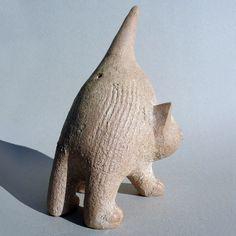 Chat de Christian Pradier, sculpture céramique animalière