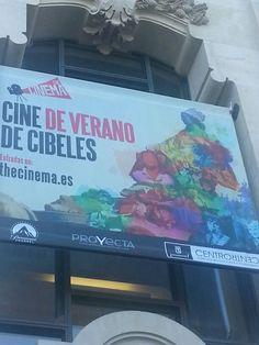 Cartel de Cine de Verano en CentroCentro Cibeles de Madrid.  #Cartel #Affiche #Arterecord 2014 https://twitter.com/arterecord