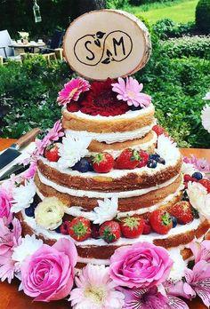 36 Unique Wedding Cake Toppers ❤️ unique wedding cake toppers wood cake topper ilsemarie.com #weddingforward #wedding #bride
