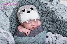 Tricheco cappello Beanie neonato fotografia Prop di YarningToBe