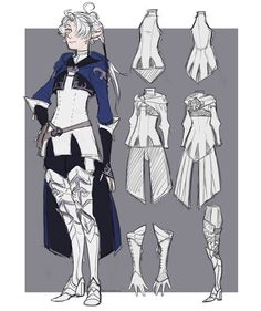 tarahana: alisaie outfit design not my art but t Character Design Cartoon, Fantasy Character Design, Character Creation, Character Design References, Character Drawing, Character Design Inspiration, Character Illustration, Character Concept, Final Fantasy