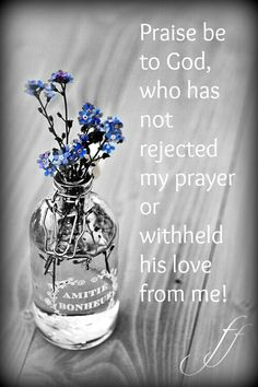But God has surely listened and has heard my prayer. Praise be to God, who has not rejected my prayer or withheld his love from me! Bible Verses Quotes, Bible Scriptures, Faith Quotes, Scripture Verses, Psalm 66, Jesus Is Lord, My Prayer, Fervent Prayer, Praise And Worship