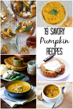 These 19 savory pumpkin recipes are ones I have to try. I love fall foods and pumpkin is my favorite.
