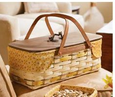 Longaberger Golden Fields Long Market Basket. This basket is both functional and beautiful! Made in the USA!