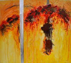 Mangrana II Díptico 120 x 129 cm. 2013 Acrílico s/tabla marina  #contemporaryart #arte #contemporaneo #elche #art #paintings #misteridelx #antoniasoler #grafiaseàss #trees #palmtree antoniasoler.com/...