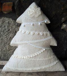 poduszka CHOINKA ShABBY CHIC pillow CHRISTMAS TREE