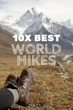 Here is a list of the top ten awe-inspiring hikes around the world to add to your bucket list. From short day hikes to hikes stretching across a few days/weeks, this list includes hikes for beginners as well as more strenuous hikes for those looking for s Hiking Guide, Backpacking Tips, Camping And Hiking, Hiking Gear, Hiking Backpack, Camping Gear, Hiking Europe, Camping Glamping, Camping Stuff