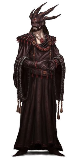 Kerrfin the Dark, a cultist watch leader under the Borngrey Commander