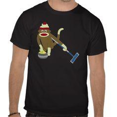 Shop Sock Monkey Olympic Curling T-Shirt created by sockmonkeys. Olympic Curling, Monkey T Shirt, Olympic Sports, Sport T Shirt, Olympics, Shirt Style, Curls, Shirt Designs, Socks