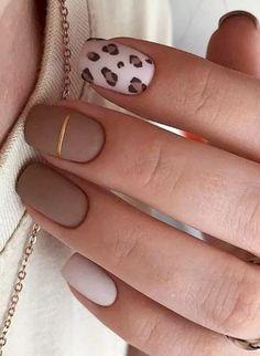 Taupe Nails, Cheetah Nails, Pink Nails, Gel Nails, Manicure, Cheetah Nail Designs, Almond Nails Natural, Acrylic Nails Natural, Fall Acrylic Nails