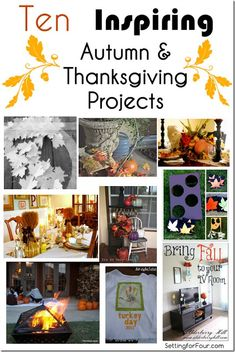 10 Inspiring Autumn and Thanksgiviing Projects Setting for Four
