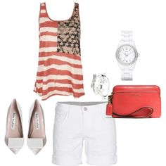 """""""American 4 th of July"""" by eshareshian on Polyvore"""