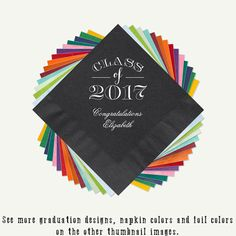 Class of 2017 Graduation Party Beverage Napkins And Or