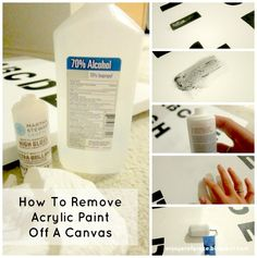 How to Remove Acrylic Paint from Canvas