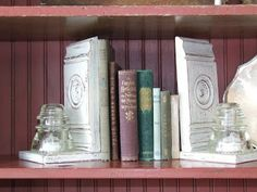 Use trim corner pieces as bookends