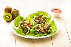 Lettuce Wraps with Hoisin Kiwi Pork on Mighties