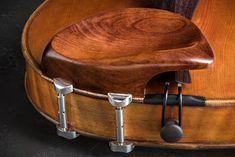 "Teka ""Giraffe"" High Boxwood Violin Chinrest w/ Nickel Barrels - Potter Violins Giraffe, Barrel, England, Accessories, Ideas, Music Instruments, Barrel Roll, Giraffes, Barrels"