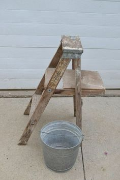 diy step ladder beverage station, how to, outdoor furniture, repurposing upcycling