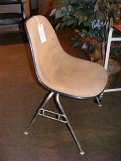 Vintage Charles & Ray Eames Upholstered Stacking Chair! Now at Retro!