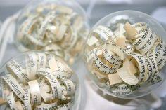 Vintage paper baubles