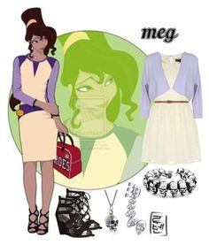 """Meg - Disney University"" by aquatic-angel ❤ liked on Polyvore featuring Disney, Mela Loves London, LIU•JO, Carlos by Carlos Santana, Black Pearl and Bling Jewelry"