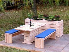 Gartenmöbel Set 2, wetterfestes Holz, Douglasie - www.holzweise.de