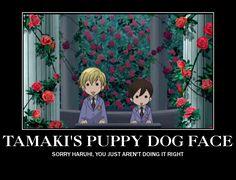 Ouran High School Host Club, Tamaki's puppy dog face