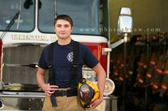 Boys senior pictures at firehouse, fireman photo session © Copyright 2015 Photography by Amanda Wilson www.photosbyaw.com