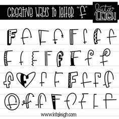 - Unique Ways To Write The Alphabet Hand Lettering Alphabet, Doodle Lettering, Creative Lettering, Lettering Styles, Calligraphy Letters, Typography Letters, Brush Lettering, Chalkboard Doodles, Handwriting Fonts