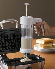 genius:  batter dispenser that also stores batter in the fridge for later.