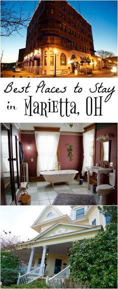 These 2 historic hotel and bed and breakfast are elegant and stunning! This photo tour shares 2 fantastic places to stay in Marietta Ohio Midwest America.