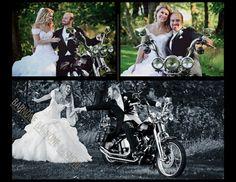 Motorcycle+wedding+photography+ideas | Via BarNone Weddingsƪ