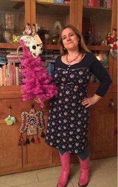 Tante Betsy Tammy Winterflower dresses fotoshoot