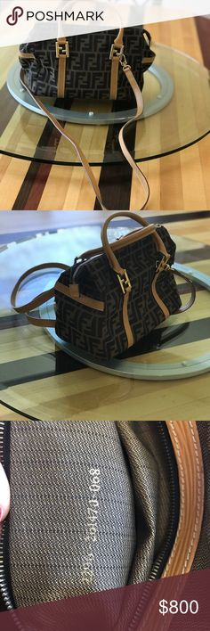 Fendi handbag Fendi fabric bag with leather handles and straps. It s in  excellent condition. 6f776ef42824c