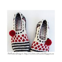 Ravelry: Stripe and Dot Slippers pattern by Ingunn Santini