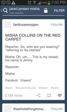 Misha Collins on the red carpet.