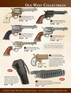 Old West Museum Quality Replica Pistols- From Tribal And Western Impressions…